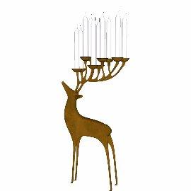 鹿角蜡烛台su鹿模型摆件装饰品