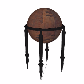 球形四角支架装饰品摆件模型