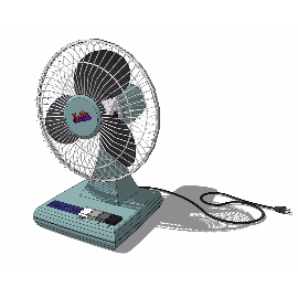 80年代老式电风扇su模型