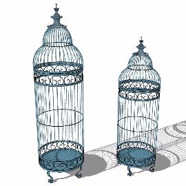 欧式鸟笼su模型装饰品