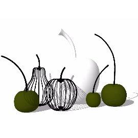 水果造型装饰品摆件su模型