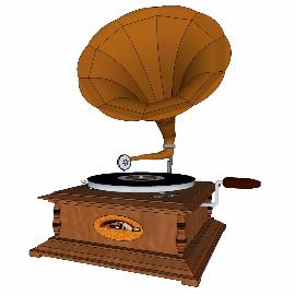 上世纪复古留声机su模型