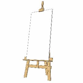 画板画架su模型