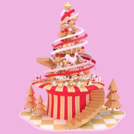 圣诞美陈 魔法帽