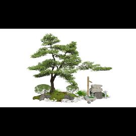 新中式景观小品庭院景观跌水景观