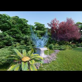创意飞翔景观雕塑小品