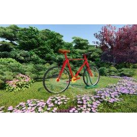 自行车雕塑小品