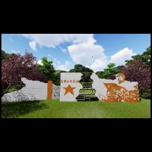 景观文化墙    su模型+lumion渲染效果图