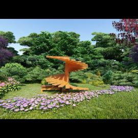 创意楼梯景观雕塑小品