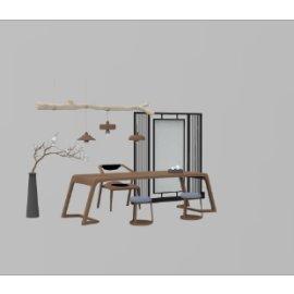 简约中式桌椅