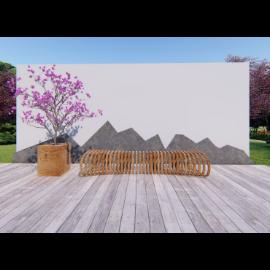 简约风格新中式景观造景