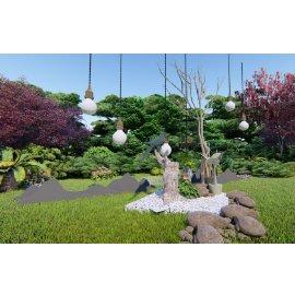 田园造景雕塑小品