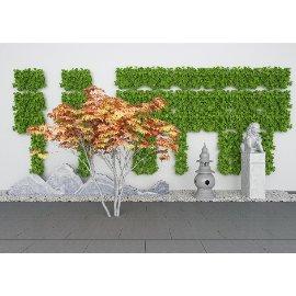 绿植墙景 中式美陈