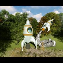 儿童科幻娱乐设施