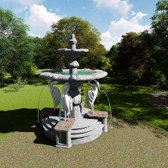 水景喷泉小品雕塑 su模型文件