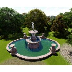 公共艺术水钵水景su模型