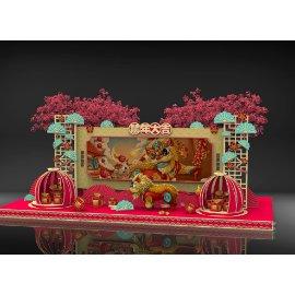 鼠年春节美陈雕塑设计