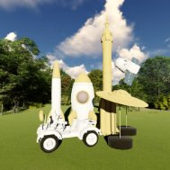 科幻儿童娱乐设施su模型