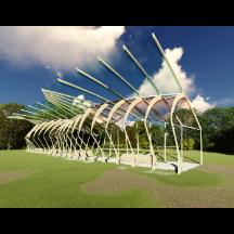 公共艺术景观异形廊架小品雕塑su模型