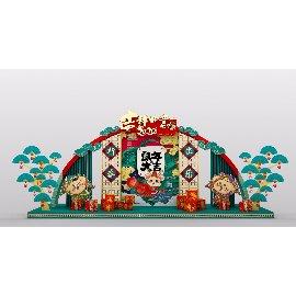 鼠年春节装饰小品