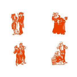 镂空 剪纸 民族舞蹈 广告牌