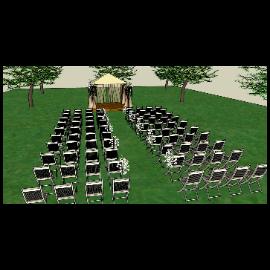 户外婚庆布置SU+LUMIO渲染效果图