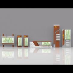 景区导视   公园导视  商场导视    su模型+keyshot渲染文件