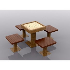 特色桌椅美陈
