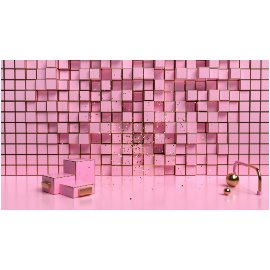 粉色个性美陈