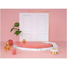 粉色门美陈