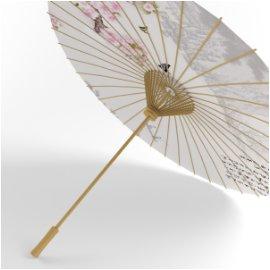 中国风伞模型