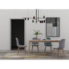 北欧餐桌椅吊灯组合