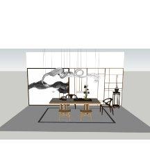 中式茶室书房桌椅