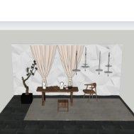 中式茶楼书桌桌椅