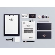 高端办公用品平面vi模板企业视觉设计模板样机
