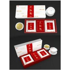 文创国风品牌茶叶铁盒包装瓶子纸袋智能效果贴图样机PSD设计素材