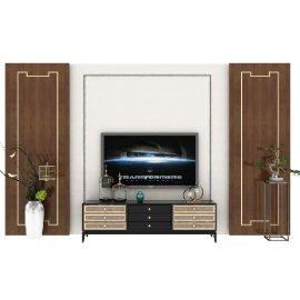 中式电视墙造型