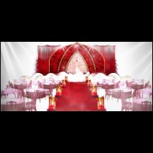 中式婚礼场景美陈