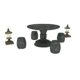 石材圆桌灯塔