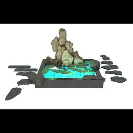 荷花水池假山