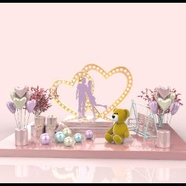 粉色三八妇女节女神节电商场景C4D美陈