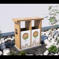 景区垃圾桶效果图