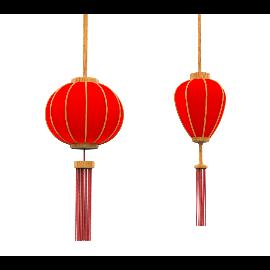 红色喜庆春节物料灯笼3D模型