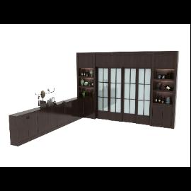 L型装饰柜子