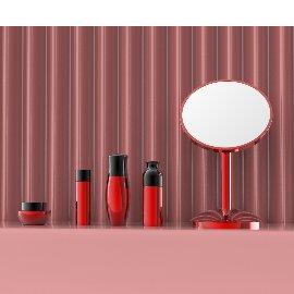 红色化妆品口红美妆C4D模型