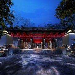 中式外立面建筑广告门头