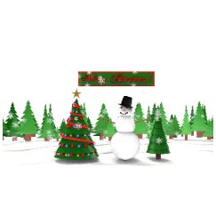 美陈圣诞节加雪人