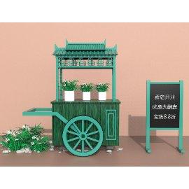 中式餐车货车小汽车蛋糕美陈C4D模型