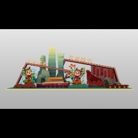 中国风春节户外美陈布景DP点