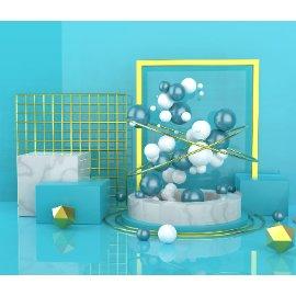 几何球体电商场景C4D模型